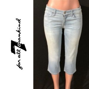 NWT 7 FOR ALL MANKIND A Pocket Crop Jeans